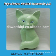High quality ceramic mini air humidifier with green fox design