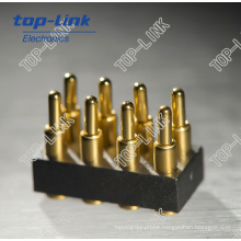 Gold Plated Double Row Pogo Pin Connector