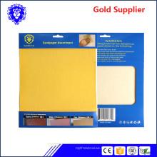2018 usine directe vendre l'eau preuve ou papier de ponçage à sec papier abrasif abrasif tissu sable papier