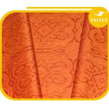 Textiles africanos de Ghalila Nueva tela anaranjada del telar jacquar de algodón Bazin Riche para la ropa de las mujeres