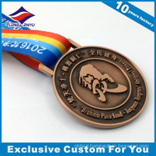 Custom cheap antique bronze bodybuilding medal for sale