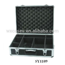 caso cámara de aluminio portátil con compartimentos ajustables interior fabricante