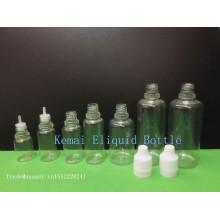 PET plástico estéril 10ml cuentagotas de plástico Eliquid Cigarrillo PET botella con tapa de sello 10ml ejuice PET botella con punta larga