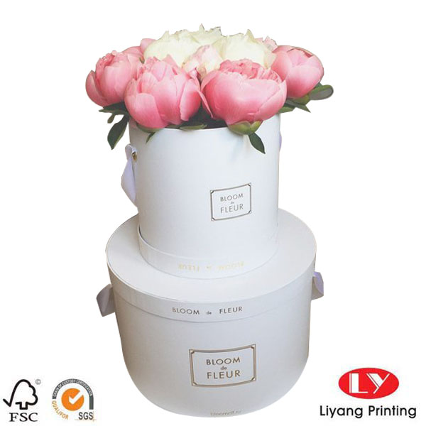 Flower box round white