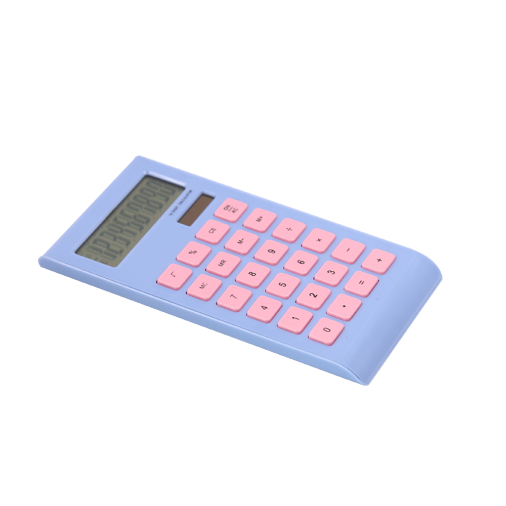 Plastic 10 digit gift calculator with dual power