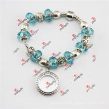 Liga de moda lockets / contas de vidro snake pulseira presentes (PDE60229)