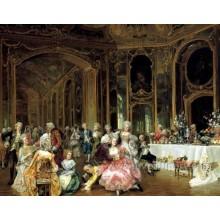Pintura decorativa pintada à mão clássica