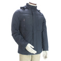 Men Custom Fitness Style Stand Collar Hooded Winter Jacket
