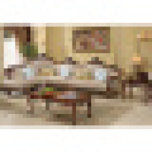 Реальный кожаный диван для гостиной мебели (D812)