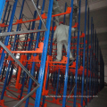 Heavy duty pallet rack with shuttle cart.