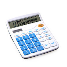 12 Digits Dual Power Basic Electronic Calculator