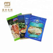 Sacos de vácuo plásticos impressos costume de alta qualidade do congelador da barreira do produto comestível alto