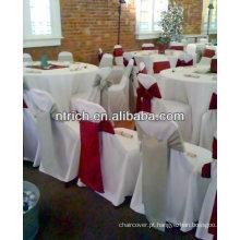 Poliéster de projeto elegante tampas da cadeira para o banquete do casamento