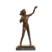 Music Bronze Sculpture Pop Star Michael Jackson Deco Brass Statue Tpy-852
