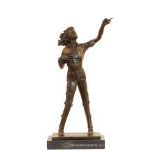 Музыка Бронзовую Скульптуру Поп-Звезда Майкл Джексон Деко Латунь Статуя Т-852