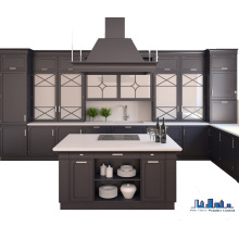 Guangzhou Manufacturer Pole Solid Wood Kitchen Cabinet