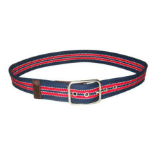Classic navy canvas belt, stylish, made of eco-friendly fabric, OEM orders are welcomed