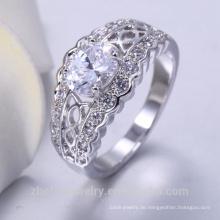 Neueste Silber Diamant Ringe Homosexuell Verlobungsringe Messing Schmuck