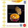 Caja de joyería europea de alta calidad chapado en oro pintado