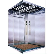 Hairline Stainless Steel Cop Freight Elevator