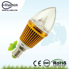 Glass Cover Led Indoor Bulb 3w e14 led candle light bulb