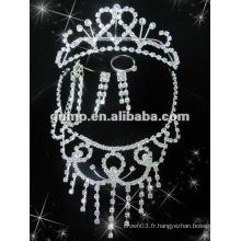 Dernier ensemble de bijoux de mariée (GWJ12-530A)
