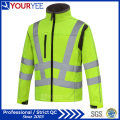 Veste imperméable et imperméable à l'eau imperméable Viz Workwear Soft Shell Fleece Jacket (YFG113)