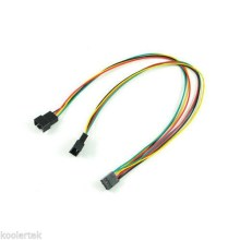 PWM Y Splitter Dual Adapter PC Fan Cable