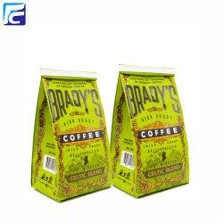 Custom printing coffee packaging bags with tin tie