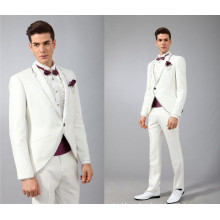 Wholesale man clothes 2017 new design custom made white men wedding suit