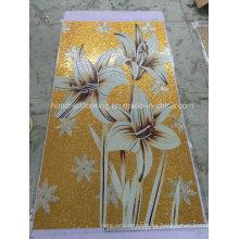 Decoración de mosaico de oro, azulejos de pared de mosaico de diseño (HMP839)