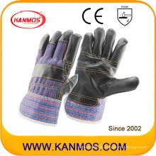 Die dunkle Möbel Rindsleder Industrielle Arbeitssicherheit Handschuhe (310021)
