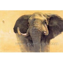 Hand Painted Indian Elephant Painting