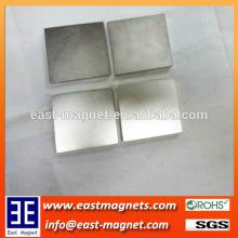 square thin block neodymium NICUNI coated magnet for sale/ningbo east magnet block magnet for sale