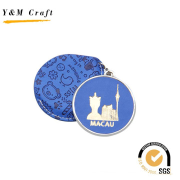 Promotional Hot Press Cartoon Logo PU Mirror for Travel Souvenirs