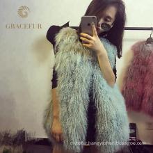 Excellent fast supplier woman mongolian fur vest fashion