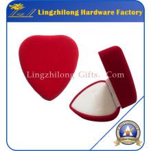 Velvet Material rote Herzform Ring Box