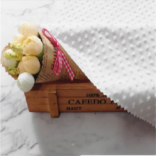 Tissu élégant de tissu de dame de fleur coupée de jacquard blanc