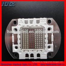 componente llevado de alta potencia multicolor de la alta intensidad 100W RGB con el certificado de ROHS y del CE