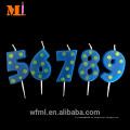 Combinación gratuita de alta reputación Cero a nueve velas únicas de cumpleaños hechas en China