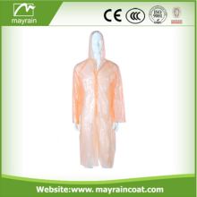 Pe Rain Coat Plastic Raincoats with Hood
