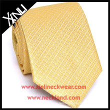 High Quality Handmade Chinese Tie Manufacturers Silk Woven Skinny Gold Tie