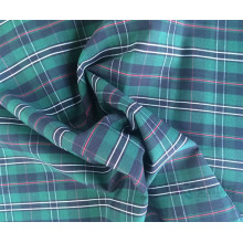 100% Cotton Yarn Dyed Plain Woven Fabric