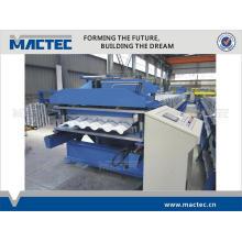 Automatische Aluminiumdachziegelrolle der hohen Qualität, die Maschine bildet