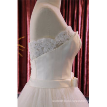 Strapless Satin Lace Bridal Gown Wedding Dress