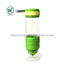 Squeeze Glass Bottle avec PP Oversleeve PP Lid