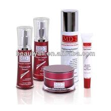 10g 25g 30g 50g redonda jarra de plástico cosmético de la cintura para el cuidado de la piel y la crema facial