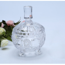 Sunflower Pattern Glass Candy Jar With Lid Storage Bottles