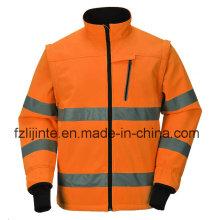 Jaqueta de segurança protetora Workwear de alta visibilidade com fita reflexiva