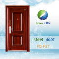 China Newest Develop and Design Single Steel Metal Iron Door (FD-F37)
